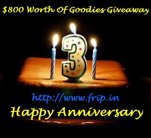 happy 3rd anniversary giveaway