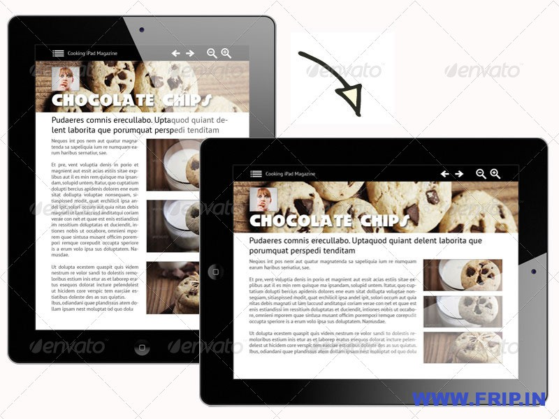 Cooking iPad Magazine in 4 resolutions