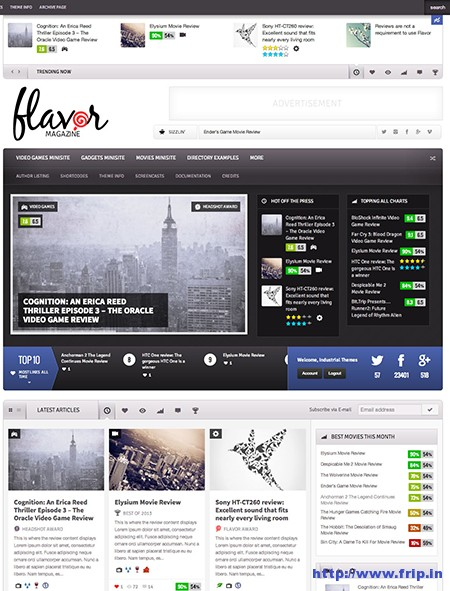 Flavor Responsive WordPress Theme