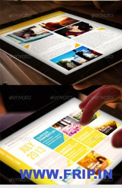 Ingamz Tablet Magazine Template