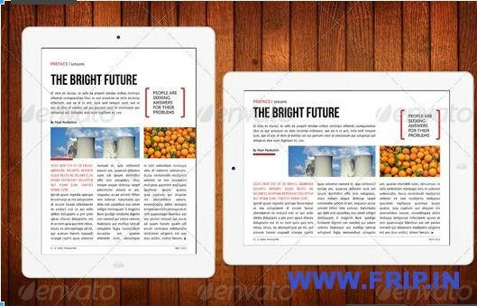 Ipad Magazine Templates