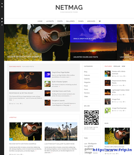 Net Mag Clean Review WordPress Theme