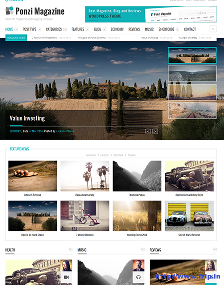 Ponzi Responsive WordPress Magazine Theme