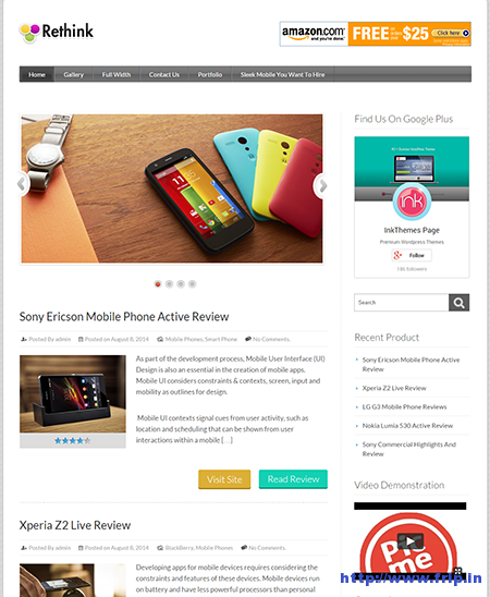 ReThink Review WordPress Theme