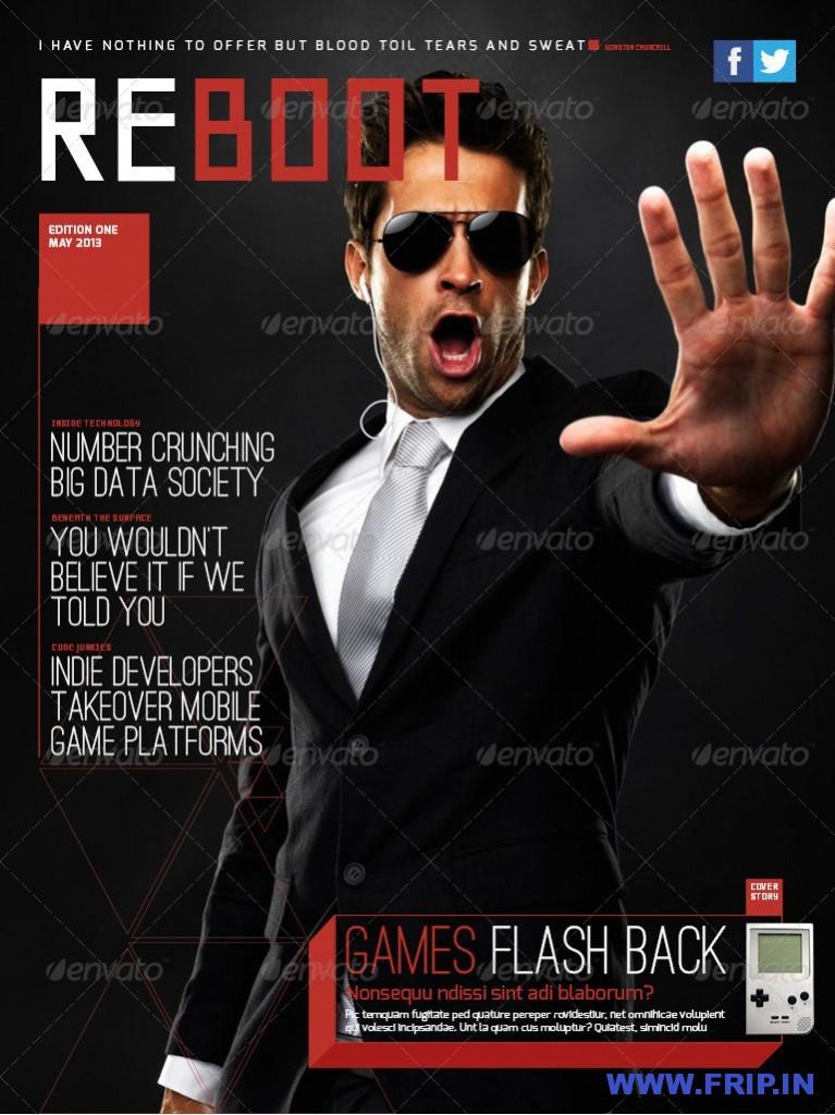 Reboot iPad magazine template