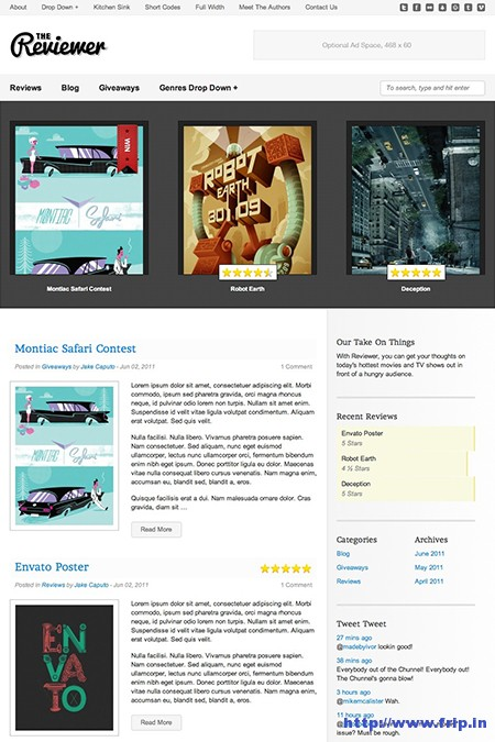 Reviewer WordPress Review Theme