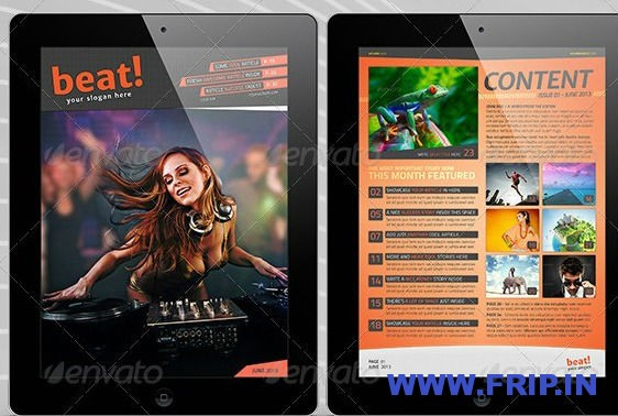 Tablet Retina Magazine Template
