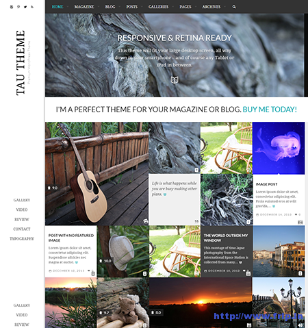 Tau Clean Review Magazine Theme