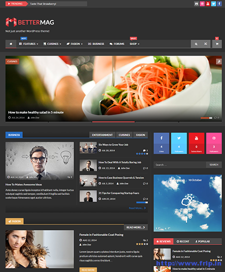 better mag wordpress theme