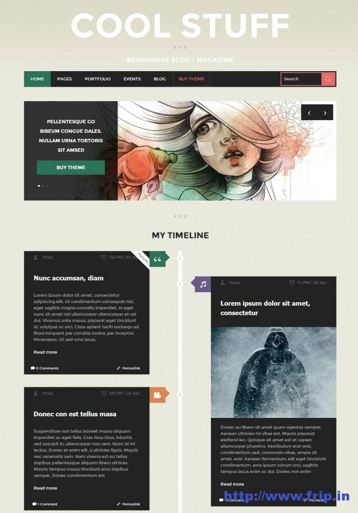 cool stuff wordpress theme