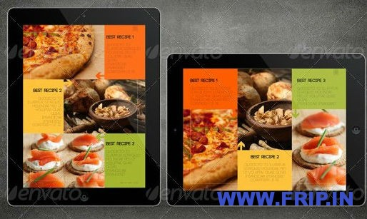 iPad Tablet Magazine Template