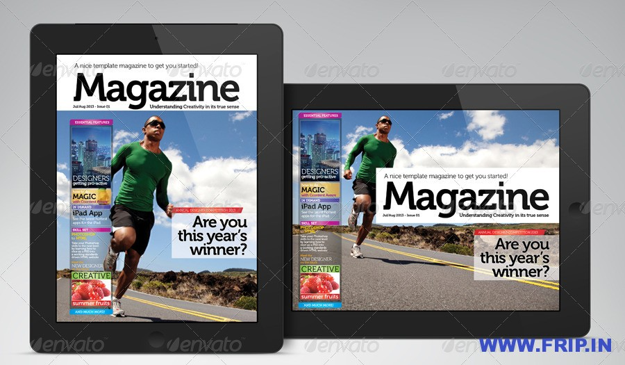 iPadTablet Magazine Indesign Layout 01