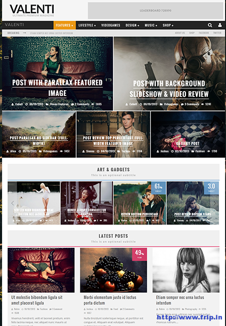 valenti wordpress magazine theme