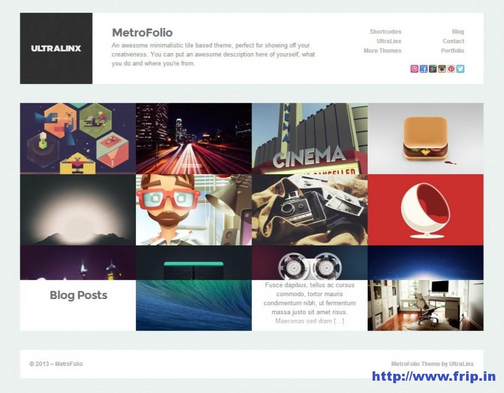 Metro Folio WordPress Theme