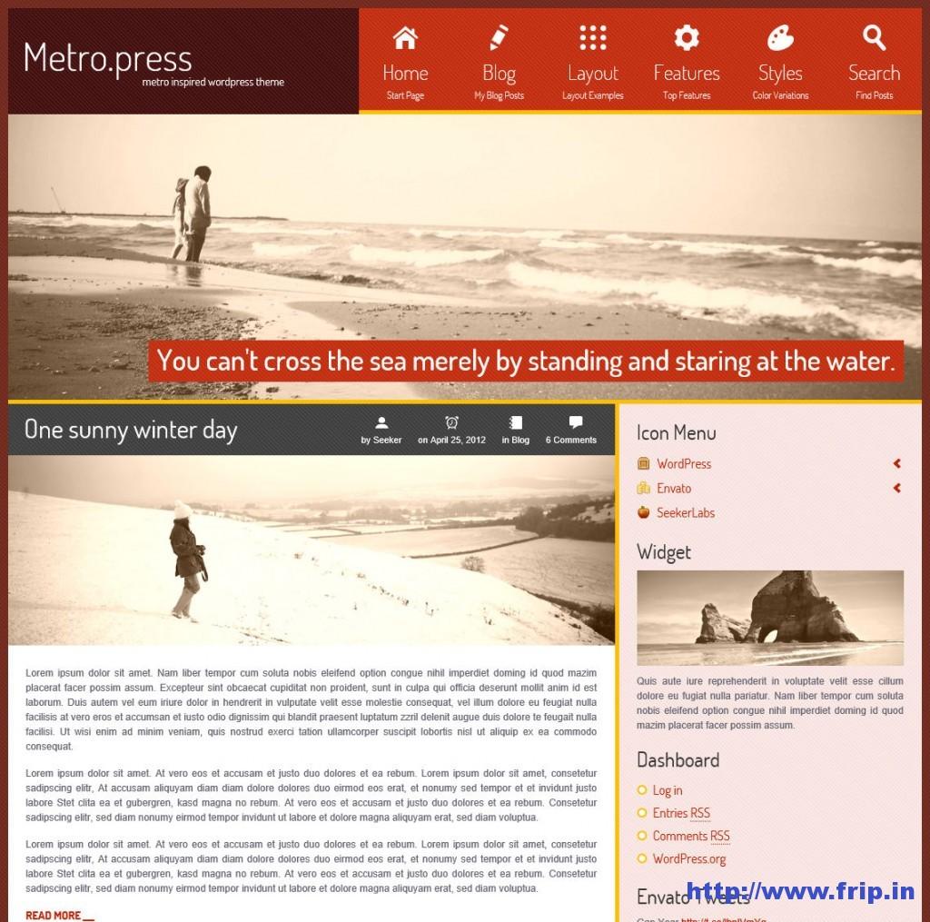 Metro Press Expressive WordPress Theme