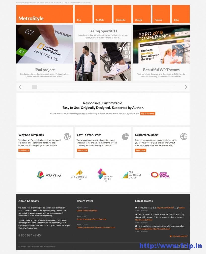 Metro Style Responsive WordPress Theme