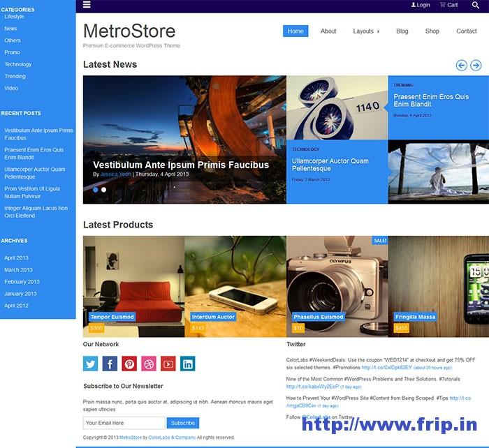 MetroStore WordPress Theme
