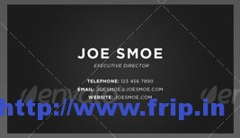 Simple Gradient Business Card