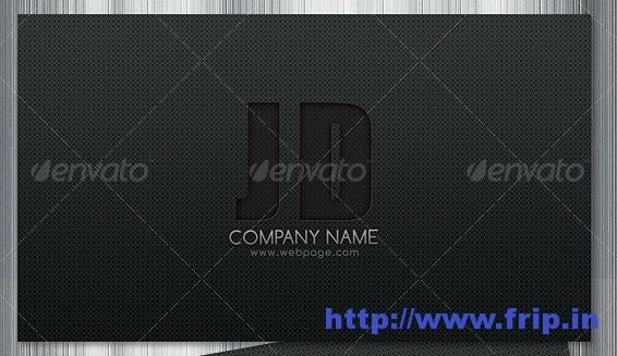 Sleek  Dark Business Card