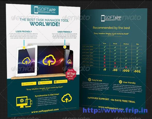 Web App Tech Business Flyer