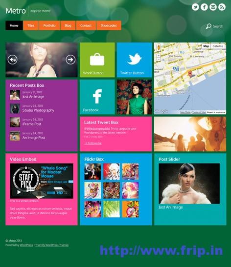 Window 8 Metro WordPress Theme