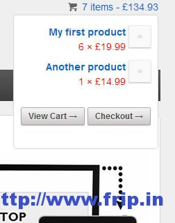 Responsive Dropdown Cart Widget