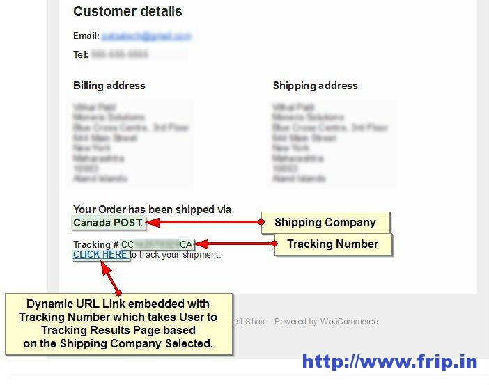 Shipping Detail Plugin For WooCommerce