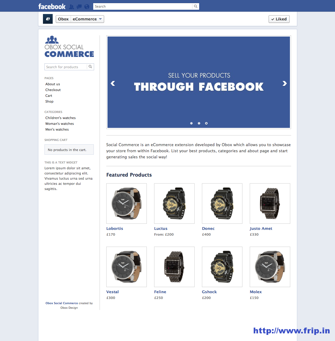 Social WooCommerce – Facebook Plugin