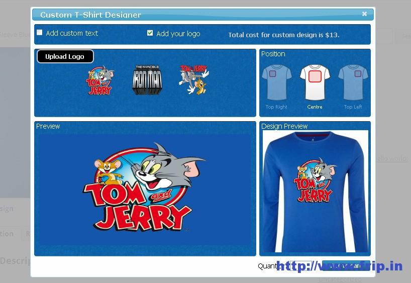 WooCommerce Custom TShirt Designer