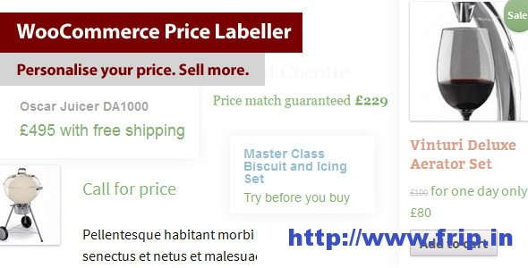 WooCommerce Price Labeller