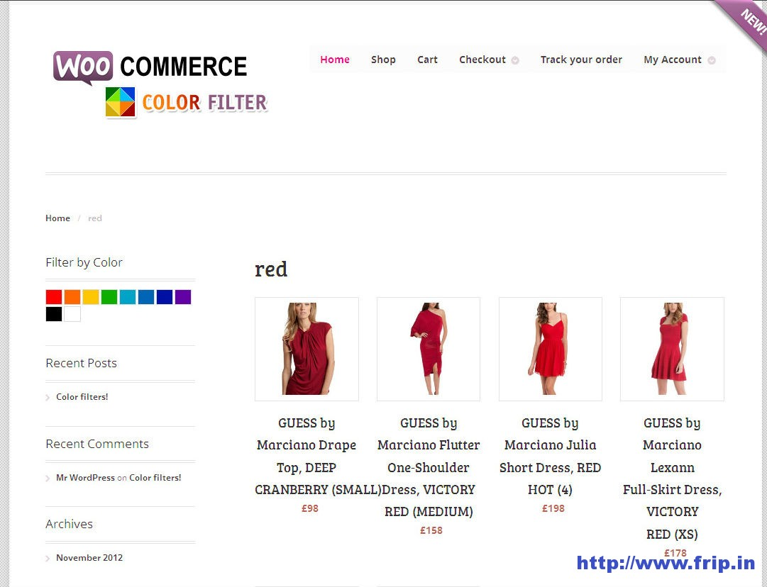 WooCommerce Products Color Filters