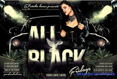 All-Black-Fridays-Party-Flyer