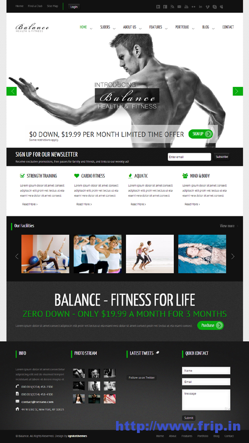 Balance Gym Fitness WordPress Theme