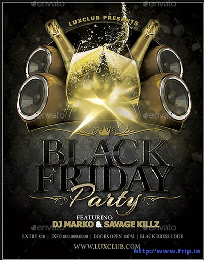 Black-Friday-Party-Flyers