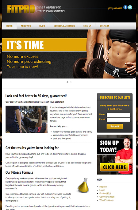 Fit pro wordpress theme