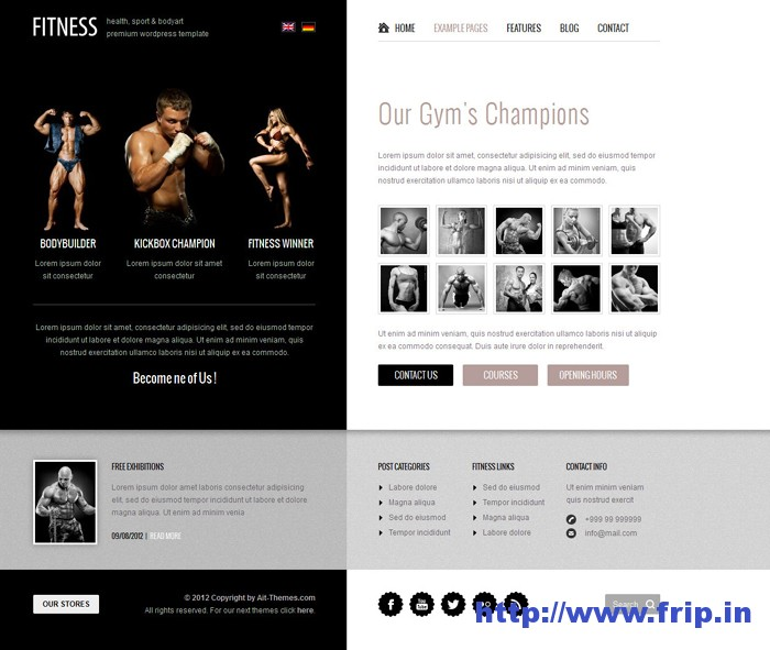 Fitness Unique Design WordPress Theme