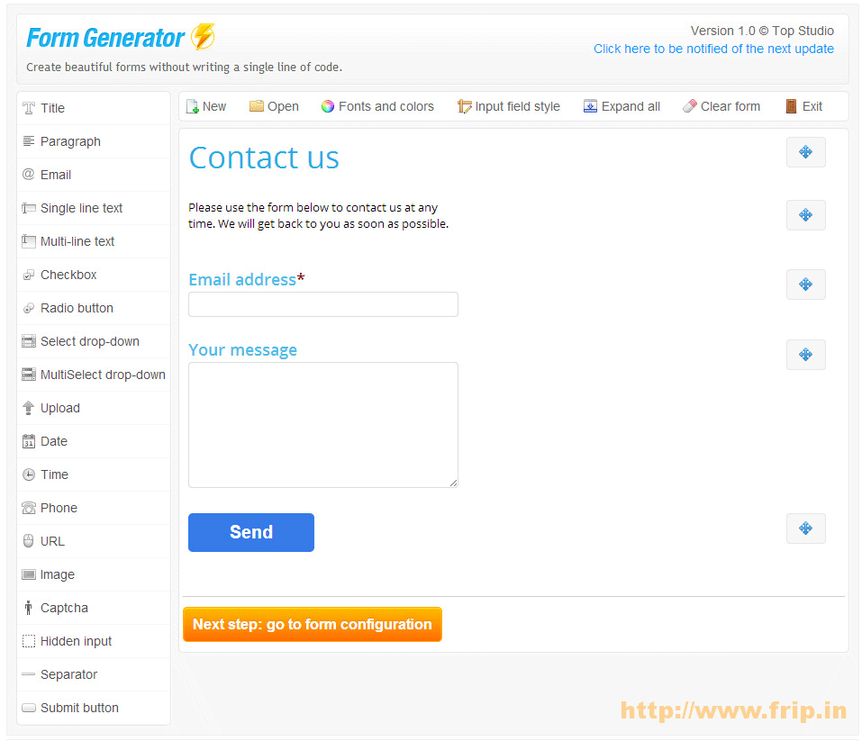 Form Generator WordPress Contact Form Builder