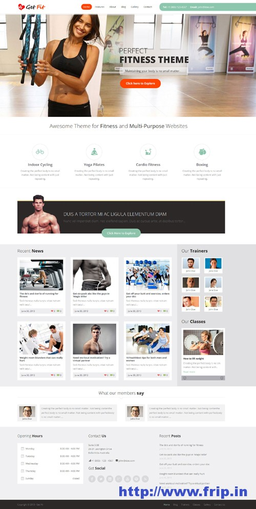 Getfit Gym Fitness WordPress Theme