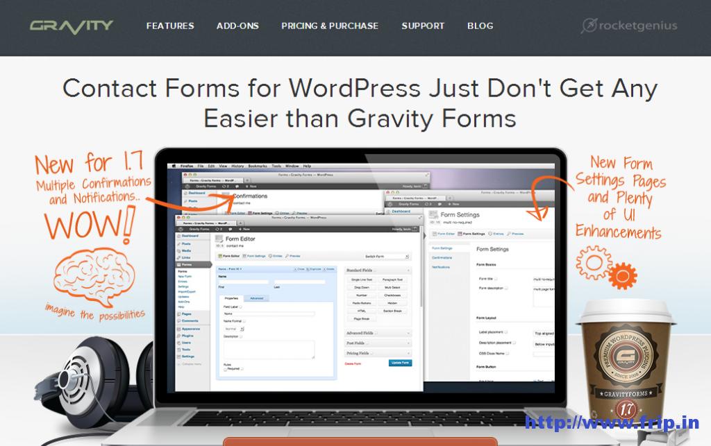 Gravity form contact form wordpress plugin