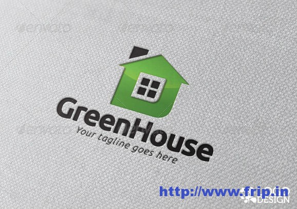 Green House Logo Template