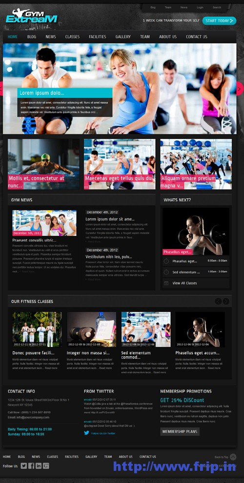 Gym Extream Gym & Fitness WP Theme