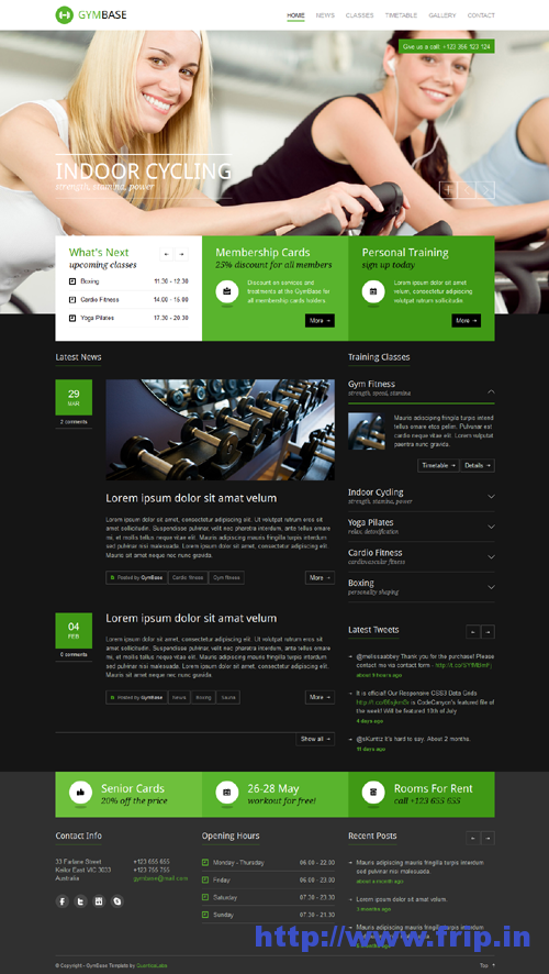 GymBase Responsive Gym WordPress Theme