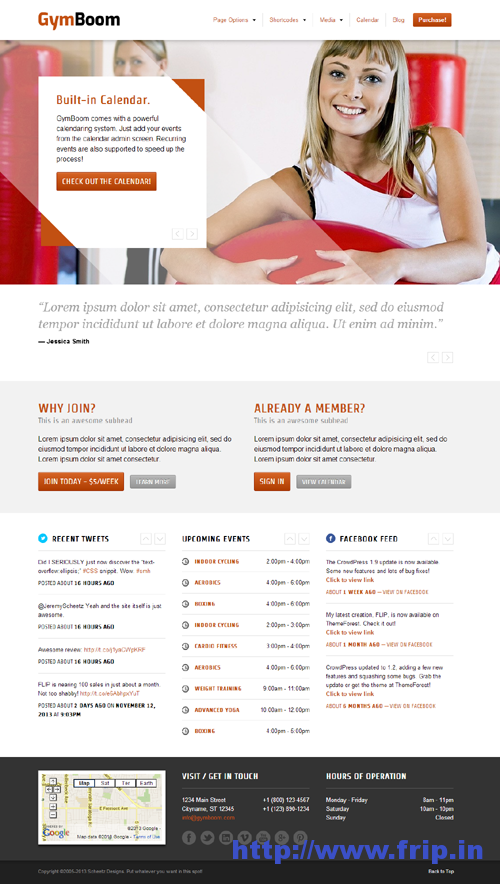 Gymboom Fitness WordPress Theme