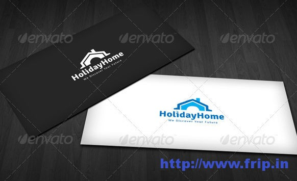 Holiday Home Logo Template