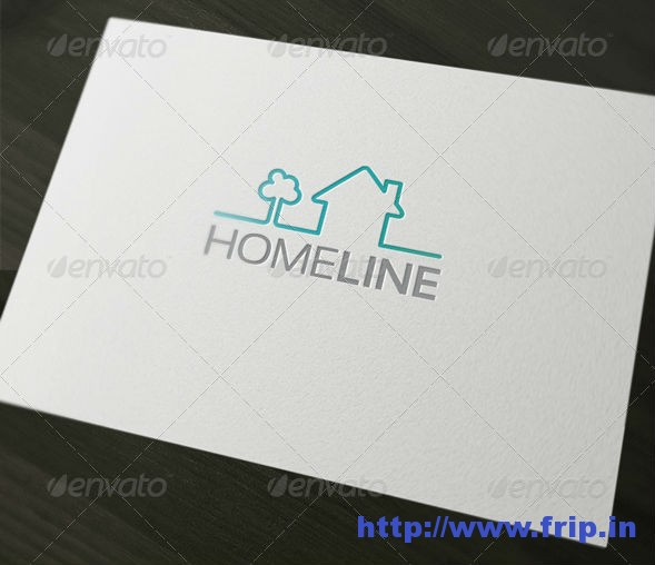 Home Line Logo Template