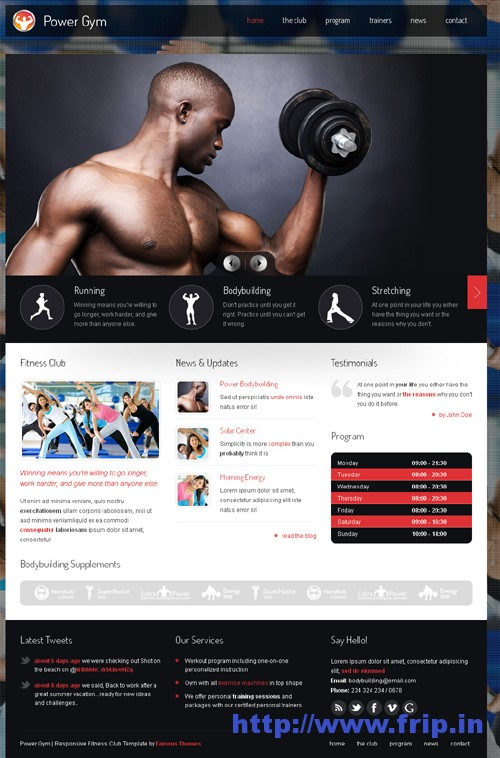 Power Gym Responsive WordPress Theme