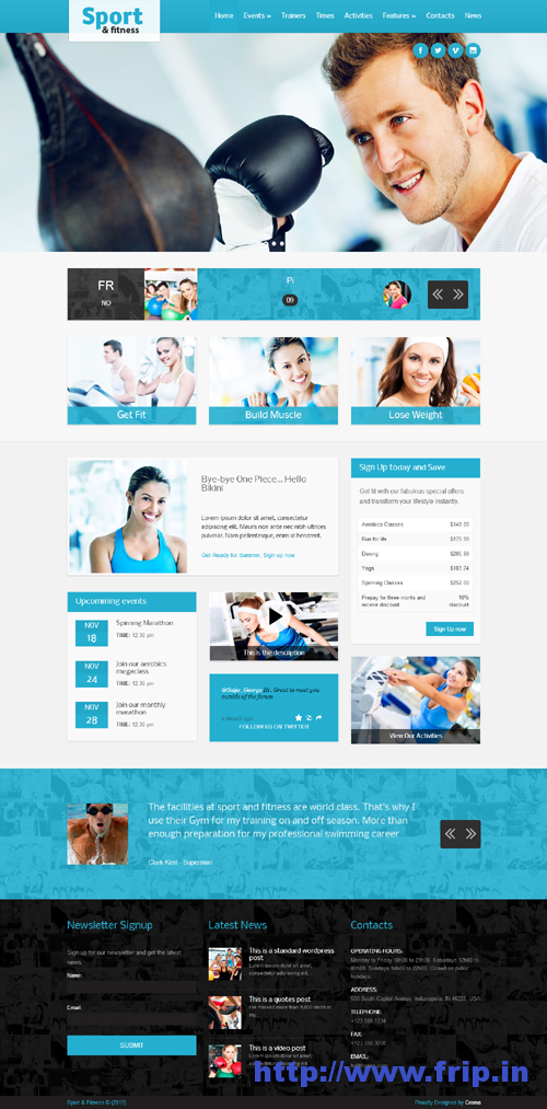Sport & Fitness Themes For Gym & Fitness Clubs