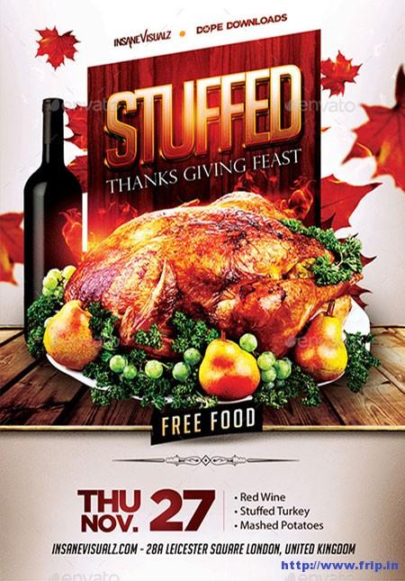 Stuffed-Thanksgiving-Feast-Flyer-Template