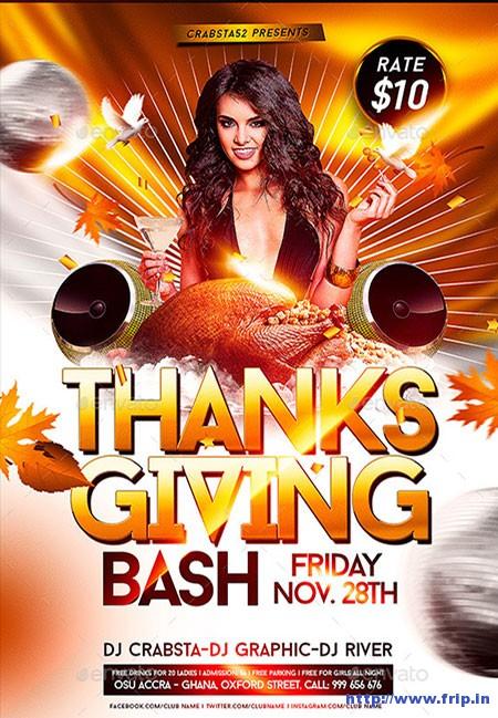 Thanksgiving-Bash-Flyer-Templates