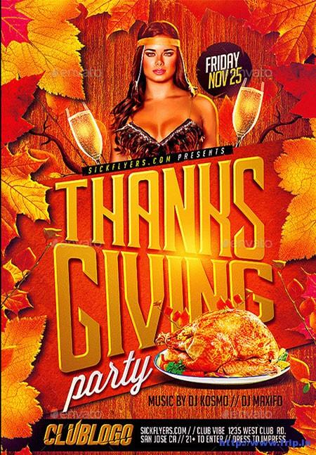 Thanksgiving-Flyer-Template